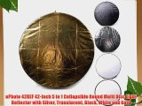 ePhoto 42REF 42-Inch 5 in 1 Collapsible Round Multi Disc Light Reflector with Silver Translucent