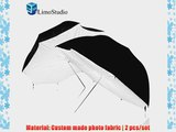 LimoStudio 2 White and Black Double Layered Umbrella Reflector Diffuser Brolly Box AGG133