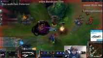 Sneaky tombe contre un spell invisible - League of legends