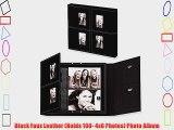 Black Faux Leather (Holds 100- 4x6 Photos) Photo Album