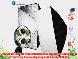 LimoStudio 2x Photo Studio Continuous Fluorescent Light Softbox 16x24 with 4 socket Lighitng