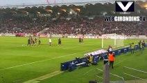 Communion avec les supporters après Bordeaux - PSG