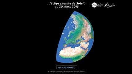 Animation  éclipse du 20 mars 2015