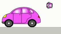 Smart Kids Learn Color Cartoons for Children 5 - Coloured Cars [聪明的孩子创建具有彩色形状] ABC 123