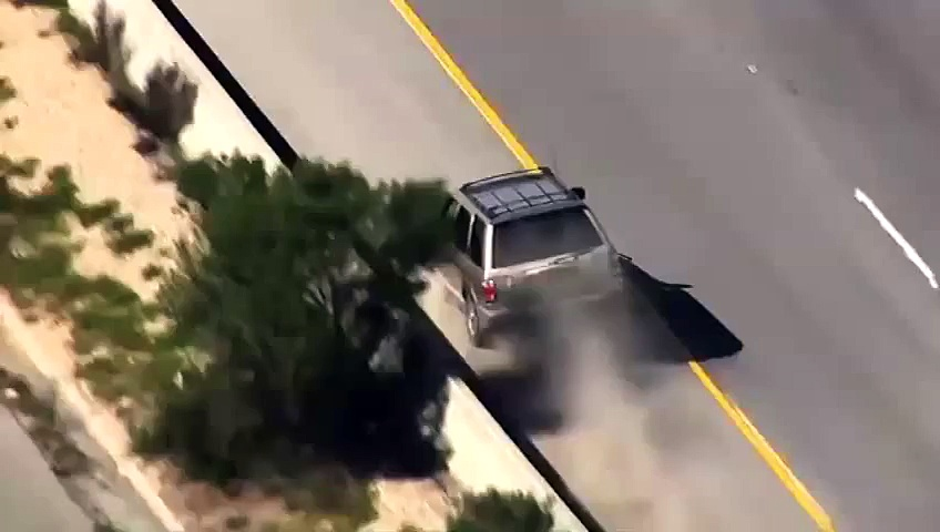 SUV Flips Over And Crashes During Police High-Speed Car Chase In California
