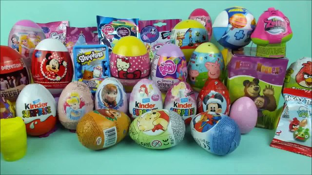 35 surprise eggs Shopkins Disney toys Masha i Medved LPS Frozen Hello Kitty by Surprise Co