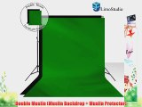 6 x 9 ft. Black Green Chromakey DOUBLE Muslin Backdrop Support Stand Kit LimoStudio LMS262
