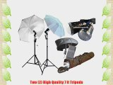CowboyStudio Photography Flash Strobe Studio Light Kit with Stands Umbrellas Wireless Trigger