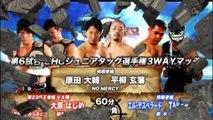 """{NOAH} GHC Jr. Heavyweight Tag Team Championship:~3 Way~(c) Hajime Ohara & Kenou Vs. """"Suzuki Gun"""" El Desperado & TAKA Michinoku Vs. Daisuke Harada & Genba Hirayanagi (3/15/15) HD"""