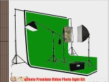 ePhoto 2700 Watt PHOTOGRAPHY STUDIO VIDEO CONTINUOUS LIGHTING SOFTBOX KIT 3PC 6 x 9 Muslin