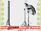 LimoStudio Photo Studio 10'x10' Double Muslin Black White Backdrop Support Kit 700W 33 Black
