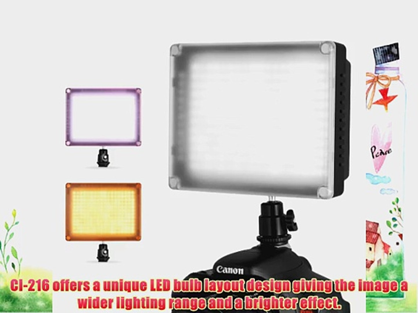 Chromo Inc. CI-216 216PCS LED Dimmable Ultra High Power Panel Digital Camera/Camcorder Video