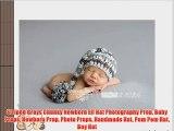 Striped Grays Chunky Newborn Elf Hat Photography Prop Baby Props Newborn Prop Photo Props Handmade