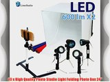 LimoStudio Table Top Photography Studio Tent Lighting Kit with 5500k 600 Lumen LED Lights Camera