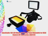 LimoStudio 160 LED Video Light Lamp Panel Dimmable for DSLR Camera DV Camcorder AGG1318