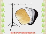 CowboyStudio Multi Disc Kit with 22 x 36 Inch 5-in-1 Multi Disc Portable Reflector Compact