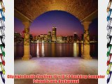 City Night Beside The River 10' x 10' CP Backdrop Computer Printed Scenic Background