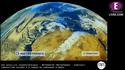 Vue Espace - Couleur - Europe/Afrique du Nord - Satellite METEOSAT10 (REPLAY)