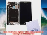Black Touch Screen Digitizer LCD w Frame Assembly for Samsung Note 3 N900V Verizon