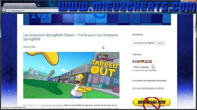 Les Simpsons Springfield Cheats Triche pour Les Simpsons Springfield