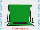 StudioPRO Quick Set Up Photography Studio 10' x 12' Black White and Green Muslin Backdrop Background