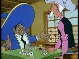 Alerte au Pieds Bleus - Pedro Cucaracha, un tricheur professionnel, chassé par Lucky Luke de Rattlesnake Valley, se sert des indiens Pieds-Bleus pour se venger.