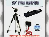 Deluxe Pro 57 Camera Tripod with Carrying Case For The Sony MHS-CM5 PM5 Bloggie Camcorder