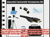 Essential Accessory Kit For Sony HDR-CX130 HDR-CX160 HDR-CX360V HDR-CX560V HDR-CX700V HDR-PJ10