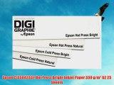 Epson C13S042332 Hot Press Bright Inkjet Paper 330 g/m? A2 25 Sheets