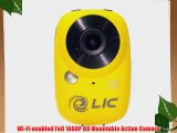 Liquid Image Ego Series 727Y Mountable Sport Video Camera with WiFi (Yellow)