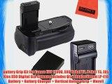 Battery Grip Kit for Canon EOS 1100D EOS Rebel T3 Rebel T5 EOS Kiss X50 Digital SLR Camera