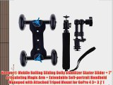 Neewer? Mobile Rolling Sliding Dolly Stabilizer Skater Slider   7 Articulating Magic Arm