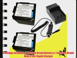 Two Halcyon 4000 mAH Lithium Ion Replacement Battery and Charger Kit for Panasonic AG-AC7 HD