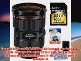 Canon EF 2470mm f28L II USM w UV Filter and Lens Cap Keeper Pro Kit Includes EF 2470mm f28L II USM Lens Photoshop Elemen