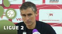 Conférence de presse Dijon FCO - Valenciennes FC (1-1) : Olivier DALL'OGLIO (DFCO) - David LE FRAPPER (VAFC) - 2014/2015