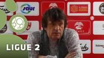 Conférence de presse Nîmes Olympique - Tours FC (3-2) : José  PASQUALETTI (NIMES) - Gilbert  ZOONEKYND (TOURS) - 2014/2015