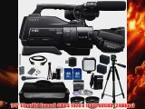 Sony HXRMC2000U Shoulder Mount AVCHD Camcorder AudioTechnica ATR288W VHF TwinMic System 45x Wide Angle Lens 2x Telephoto