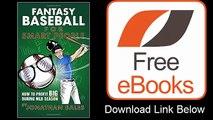 Fantasy Baseball for Smart People How to Profit Big During MLB Season by Jonathan Bales Download ePub
