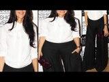 Hot Neha Dhupia Exposing Inner Hot Assets Through White Shirt