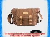 Eggsnow Camera Bag Waterproof Travel One Shoulder Canvas Bag for Canon Nikon Sony SDLR Camera(Storage