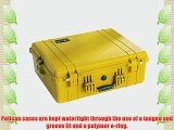 Pelican 1600 Case with Foam for Camera (Yellow)