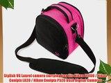 (Magenta Pink) Laurel VG Camera Bag w/ Removable Shoulder Strap for Nikon D7100 / Nikon Coolpix