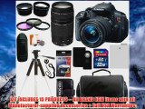 Canon EOS Rebel T5i 180 MP Digital Camera SLR Kit With Canon EFS 1855mm IS II STM Lens Canon EF 75300mm f4056 III Autofo
