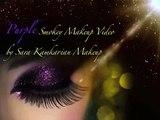 purple eyeshadow tips, purple eyeshadow application, purple smokey eyes