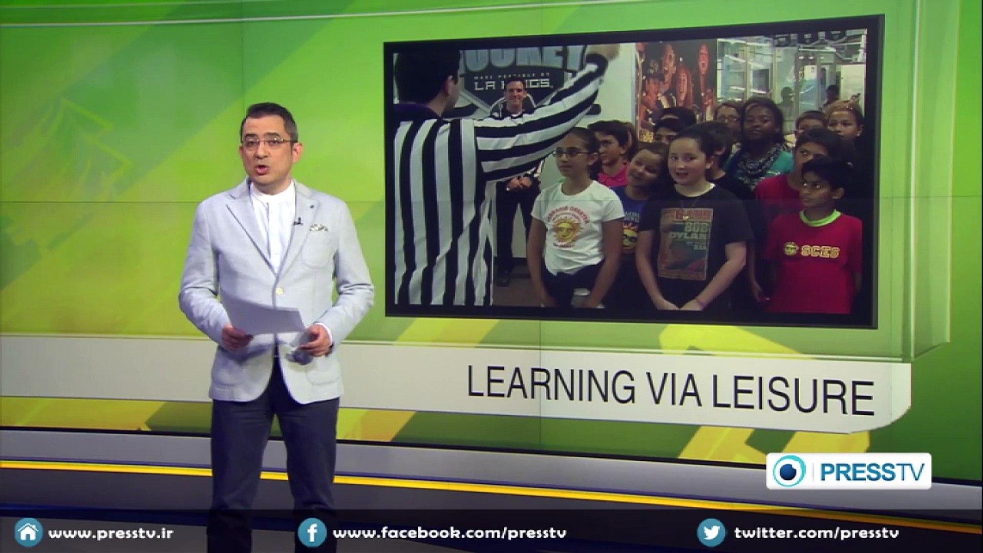 Ice Hockey expo in LA teaching kids science via entertainment