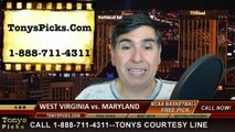 Maryland Terrapins vs. West Virginia Mountaineers Free Pick Prediction NCAA Tournament College Basketball Odds Preview 3-22-2015