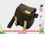Caden Digital Camera Bag Waterproof Canvas Vintage Shoulder Bag Backpack Brown for Nikon Sony