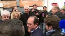 François Hollande avec les habitants de Tulle