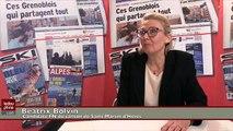 Béatrix Bolvin, candidate FN du canton de Saint Martin d'Hères, satisfaite des résultats des #Départementales2015