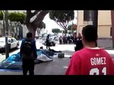 LAPD cops shoots homeless man after tasing him and throwing him to the ground! black power!!